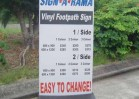 A Frame - Vinyl Footpath Sign